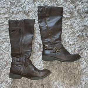 Xhilaration Brown Buckle Boots - Size 9